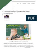 27 Formas Sencillas Para Que Estudiantes Presten Atención en Clase - Blog Educativo