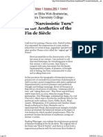 The Narcissistic Turn in the Aesthetics of the Fin de Siecle