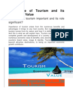 Importance of Tourism and Its Economic Value