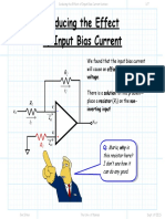 Reducing the Effect of Input Bias Current Lecture