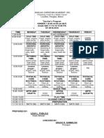 Teacher's Program