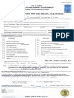 Application for Locational Clearance Makati City - Form