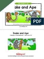 snake and ape graded reader