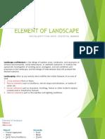 Element of Landscape