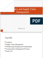S 27 Logistics and Supply Chain Mangement