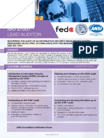 ISO 27001 Lead Auditor Four Pages Syllabus
