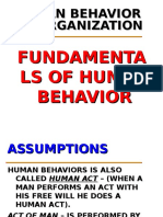 Fundamentals of Human Behavior