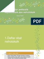 Antibiotik Hepatotoksik Dan Nefrotoksik