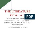 A.'.A.'. Syllabus and Curriculum