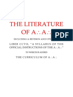 A.'.A.'. Syllabus and Curriculum