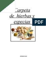 Carpeta de Especiero MUESTRA