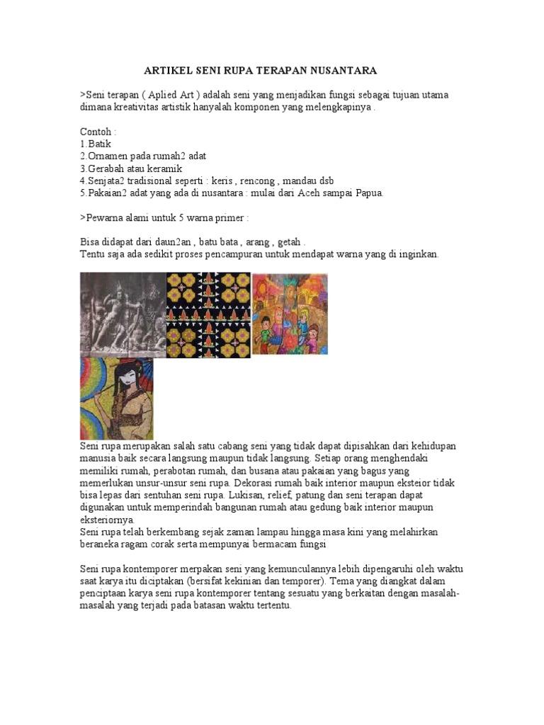 23229952 Artikel Seni Rupa Terapan Nusantara