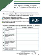 190905 preservice teacher certificate of pd