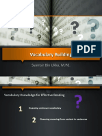 1. Vocabulary Building