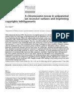 Chromosome Rescue in Uniparental Disomy