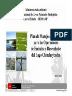 Plan de manejo lago chinchaycocha