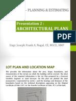 CENGR 421 Presentation 2 Architectural Plans