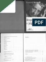 Arendt - Responsabilidade e Julgamento - Intro e Cap1