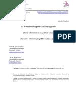 La Administración Publica Y La Ciencia Política
