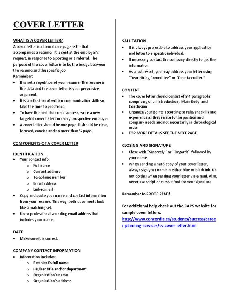 Cover Letter Guide Job Hunting Resume Free 30 Day Trial Scribd