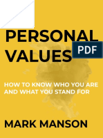 Personal Values - Mark Manson