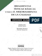 CALIDAD Kume Hitoshi - Herramientas Estadisticas Para El Mejoramiento de La Calidad