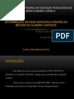 Dnbr 9813 Eterminação Do Peso Específico Através Do Método Do Cilindro Cortante