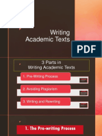 Reading Techniques and Thesis Statement