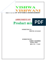 Product Mix of 3 COMPANIES
