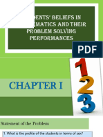 Students' Beliefs in Mathematics and Their Problem