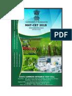 Final Mht-cet-2018 Agriculture Brochure