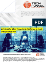 What is the Most Important Challenge in Agile Transformation