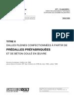 CPT Planchers Titre II Dalles Pleines Confectionnees a Partir de Predalles Prefabriquees Et de Beton Coule en Place 2000