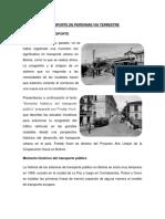 Historia Del Transito y El Transporte