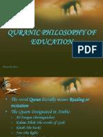 Quranic Philosophy of Education
