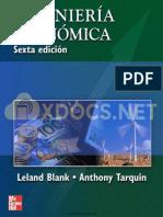 Ingenieria Economica 6ta Edicion Leland Blank y Anthony Tarquin