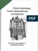 EL ORGANISTA LITÚRGICO