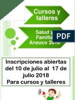 Cursos y Talleresanauco2018