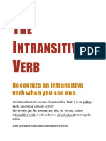 The Intransitive Verb