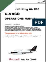 King air GVBCD operations manual