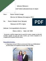 INFORME MISIONERO  A JULIO DE 2008