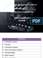 Lubrication Systems of Internal Combustion Engines