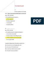 English Test Advice