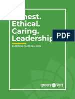 2019 Green Party of Canada Platform