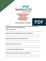 Marathon Oil and Gas Online Interview Form