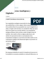 Diferencia Entre Computadoras Analogicas y Digitales