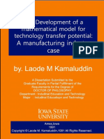 The Development of a Mathematical Model for Technology Transfer p