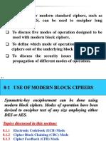 Block Cipher Modes