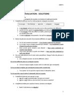 UNITÉ 5 - Evaluation - Solucion
