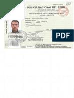 Certificado de Antecedentes Policiales-
